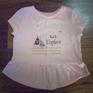Adorable Sailboat Sparkly Graphic Tee